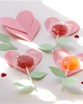 A great project to decorate treats to attach to the valentines your child is bringing to school.